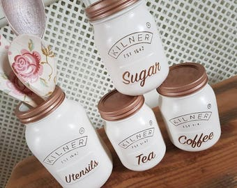Kilner Jar set Tea Coffee Sugar
