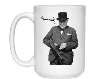 Winston Churchill Signature High Quality Ceramic Coffee or Tea Mug