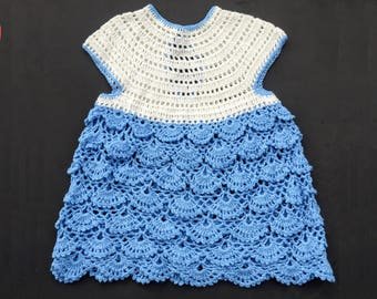 Crochet summer dress for baby girl