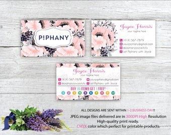Piphany Business Card, Custom Piphany Business Card, Punch Card, Buy 10 get 1 free, Custom Business Card, Printable Card TP06
