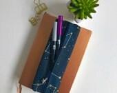 Pen Case, Stars Pencil Case, Zipper Pouch, Zipper Pencil Case, Gift for Her, Birthday Gift, Bullet Journal Supplies