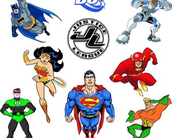 Justice league svg justice league clipart Superhero svg superhero clipart decor Superman Batman Wonder woman Flash svg eps png jpg cut files