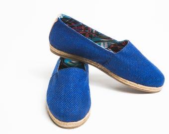 Jutes Iconica Jute Blue Lining Blue Turquoise