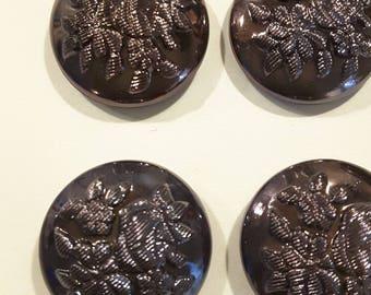 Six Czech glass buttons.