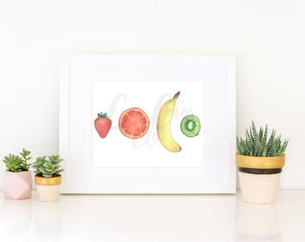 Watercolor Fruit Print 1