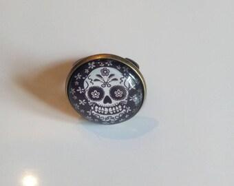 """Adjustable ring bronze """"skull"""""""