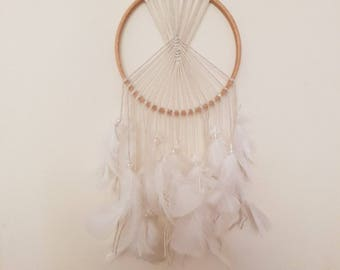 White feathered dream catcher