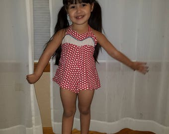 Vintage Toddler Girl 3T Romper