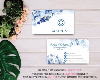 Monat Business Card Custom, Custom Monat Business Card, Fast Free Personalization, Custom Monat Hair Care Card, Printable Business Card MN19