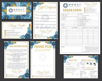 PERSONALIZED Monat Marketing Kit, Monat Bundle, Monat Floral Cards, Custom Monat Hair Care, Monat Global Marketing, Printable Card MN14