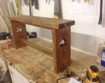 Handmade wooden bench
