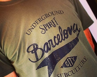 T-Shirt BCN UNDERGROUND/Green