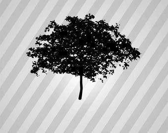Tree Silhouette - Tree Silhouettes SVG, Tree clipart,bundle svg, Tree svg Cut File,DXF,PNG Use with Silhoutte & Cricut Instant Download