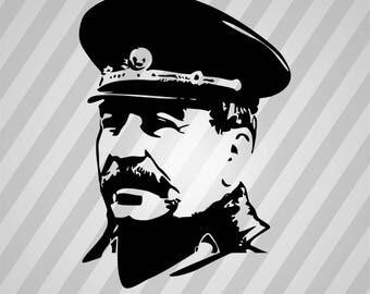 Stalin Silhouette - Svg Dxf Eps Silhouette Rld RDWorks Pdf Png AI Files Digital Cut Vector File Svg File Cricut Laser Cut