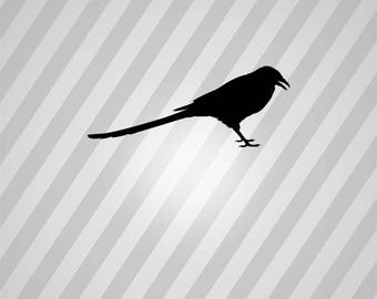 magpie Silhouette - Svg Dxf Eps Silhouette Rld RDWorks Pdf Png AI Files Digital Cut Vector File Svg File Cricut Laser Cut