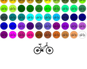 City Bicycle 60 Colors City Bicycle Clipart Sticker Clipart Clip Art Planner Sticker Clipart 2018