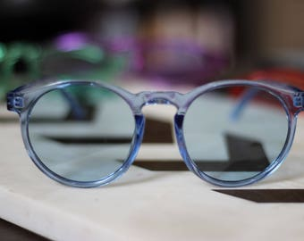 Tinted Clear Plastic Sunglasses