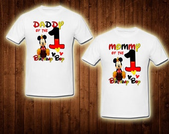 family shirts baby mickey mouse birthday theme mom of the birthday boy dad of the birthday boy