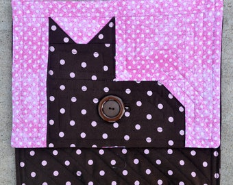 Quilted cat Kindle case CT2