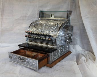 Vintage Cash Register NCR Model 336 (c.1909) Nickle Plated Brass