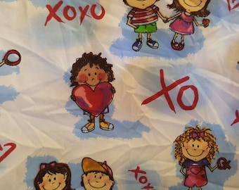 "Timeless Treasures Inc. Cotton fabric XOXO D# WKIDZ -BP 5887 26""L x 60""W"
