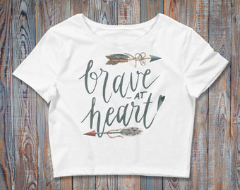 Brave at Heart / Boho Chic / Women's Crop Top
