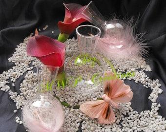 "Vase soliflore ""ball"" glass dimensions: 5.7 x 9.5 cm"