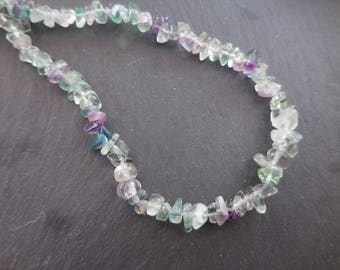 Fluorite - Chips seed 4-12 mm * 1 yarn 10 cm to 85 cm