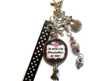 """Bag charm, Keychain / NURSERY / """"I'm a nursery to the top!"""" /les wonders faby/party/gift / thank you"""