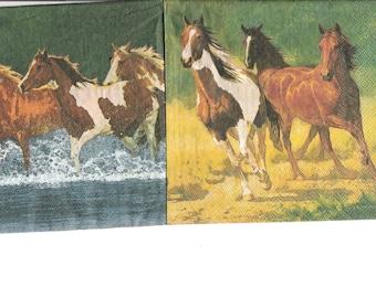 Wild horses towel
