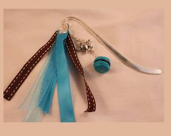Choco turquoise silver bookmark