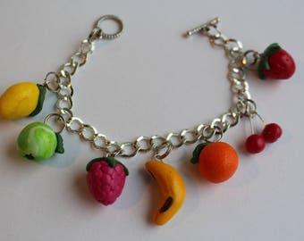 Tutti Frutti 7 fruits multi-color bracelet