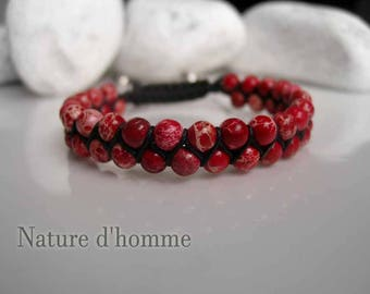 Braided bracelet reality red marbled Ref: BN-105