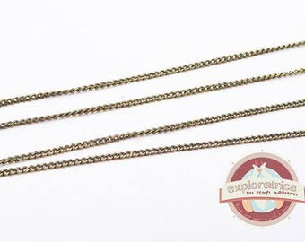 2 meters of fine chain with stitch 1 x 1.5 mm lead and nickel free