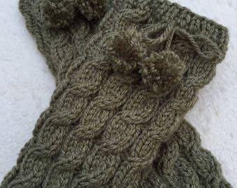 Women's Leg Warmers Pom Pom Leg Warmers Hand Knitted Leg Warmers Crochet Socks Ankle Warmers Gift For Her