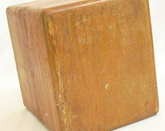 Vintage Wooden Box, Nail and Screw Container, Woodworking Shop Box, Storage Container,  Organizer, Shop Tool Organizer, Workbench Box, Cover