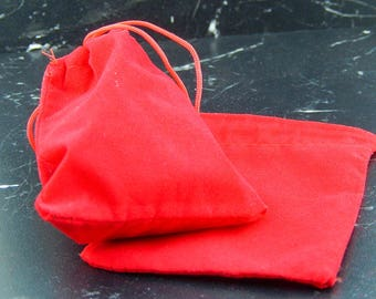 5 suede 7X9cm gift bags