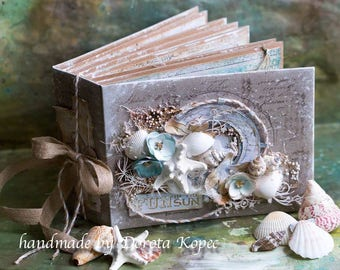 Seaside photo album, scrapbook album by Dorota Kopec
