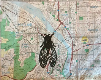 Portland Fly Linocut Print