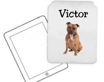 Cover for tablet pc pitbull personalized with name