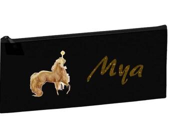 Black School Kit Unicorn personalized with name