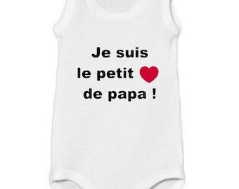 Onesie top Message I'm Daddy's little heart