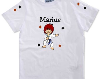 T-shirt boy Judoka personalized with name