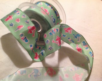Vintage, each side holding wire Ribbon