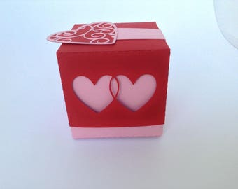 Box dragees wedding heart