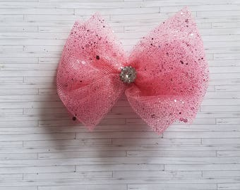 Tulle hair bow