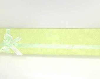 Box, gift box, rectangular, bracelets, watches, lime green