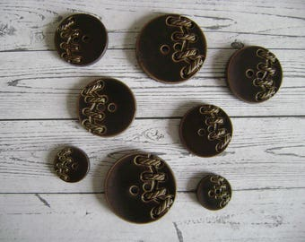 Vintage style buttons