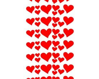 "Stickers ""Hearts"" Board for wedding decor"