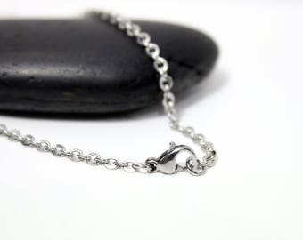 45cm - stainless steel - 45cm trace chain necklace